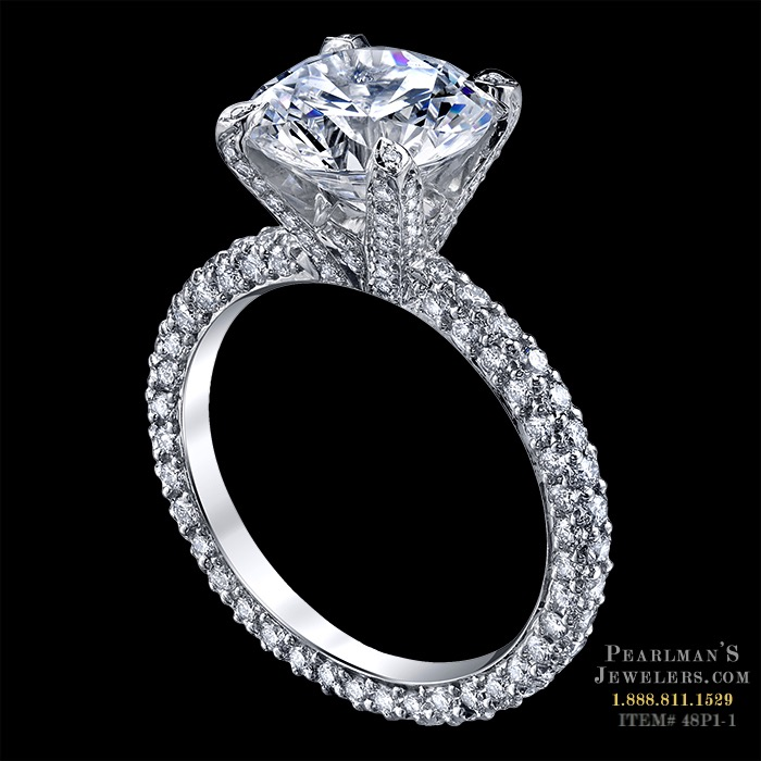 luxury wedding rings michael b jewelry luxury pave engagement ring 5628