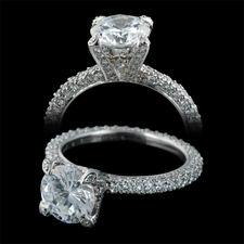 Michael B. Luxury pave engagement ring ...