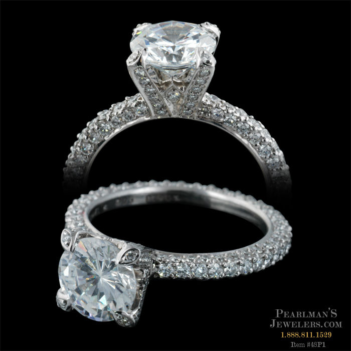 Michael b jewelry luxury pave engagement ring for Michael b s jewelry