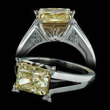 Durnell Fancy Yellow Dew Drop Ring