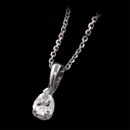 Our classic pear shaped diamond solitaire pendant with our diamond cut cable 14kt white gold chain and handmade 18kt gold mounting. We make these from 1/4ct and larger and in 18kt white, yellow gold, and platinum. All diamonds are ideal cuts. Just pretty. This is the 1/4ct pendant.This pendant can be made in all shapes of diamonds or colored gemstones. All mountings are made in the America