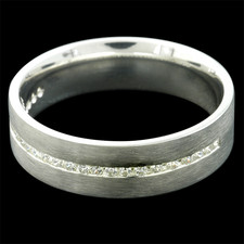 Charles Green Gents18kt w..g diamond wedding band