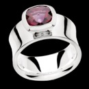 Item 52BA1 - Bastian-Inverun: 925 Polished beautiful Red Topaz ring, 2.30 ct; measuring band approximately 10.31 mm wide; size 7.5
