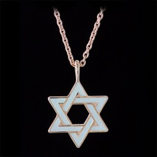 Nicole Barr Rose Gold Plated Silver White Star of David