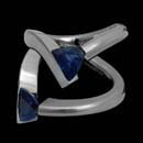 Steven Kretchmer's platinum V3 engagement ring, set with 1.21ct blue sapphire. Inlay also available with diamonds. Displayed with a sapphire, priced as semi-mount without sapphire. This ring is also available in 18 karat golds. Call for pricing on center gemstone.