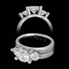 Whitney Boin platinum post triad mount engagement ring