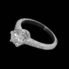 Michael Beaudry crown solitaire ring