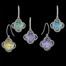 Pearlman's Collection Sterling silver colored gemstone earrings