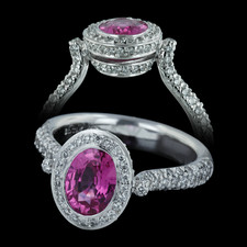Spark 18k pink sapphire engagement ring