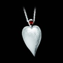 A gorgeous silver 925 pendant that is rhodium plated and features a garnet with 0.20ctw.