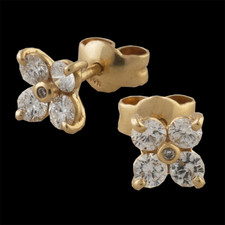 Pearlman's Collection Gold diamond earrings