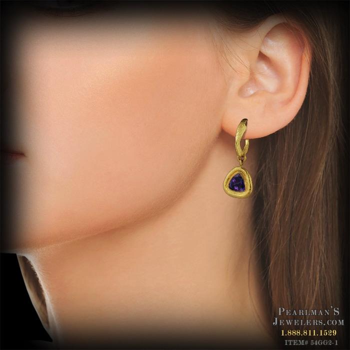 Gurhan 24 Karat Gold Amethyst Earrings