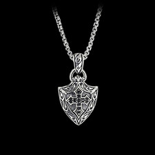 Scott kay for men jewelry sterling silver engraved cross shield pendant discontinued scott kay for men sterling silver engraved cross shield pendant aloadofball Image collections
