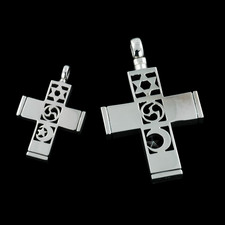 Closeout Jewelry sterling silver world peace cross pendant