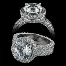 Michael B. pave engagement ring