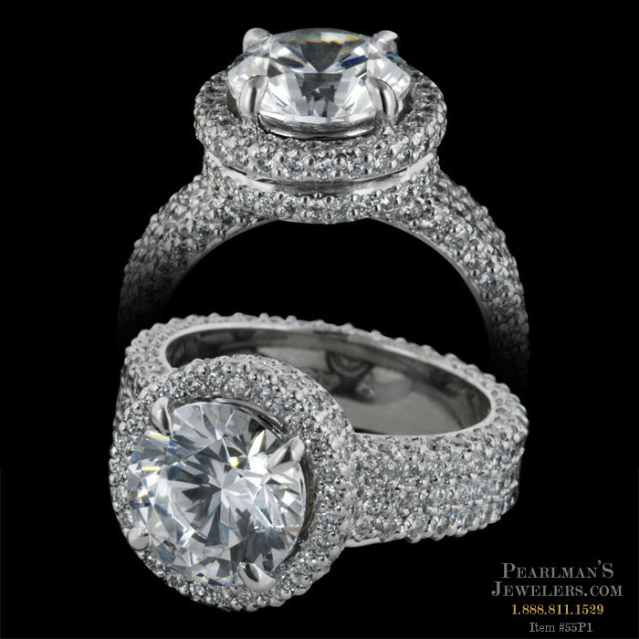 Michael b jewelry pave engagement ring for Michael b s jewelry