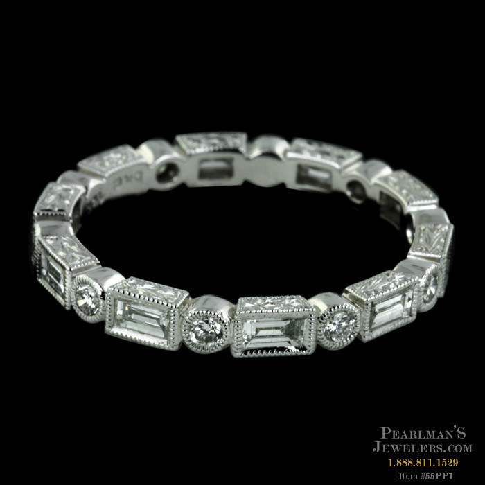 Beverley K Jewelry 18kt White Gold Diamond Eternity Band Rounds