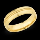 Christian Bauer designed this classic 6.0mm 18K gold wedding band.