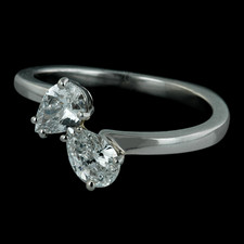 Bridget Durnell twin pear ring in platinum from Durnell