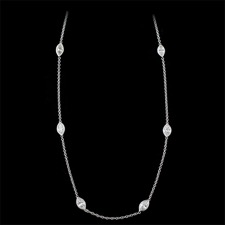 Pearlman's Bridal 18kt white gold diamond eternity necklace