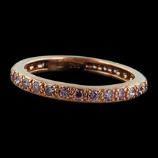 Gumuchian Gumuchian Pink Gold Pink diamond band