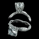 This is the Michael B Infinity Unlimited Love engagement ring.  The band has a unique pave twisted-shank with diamond tips and prongs. The engagement ring is set with 152 diamonds weighing .65ct.  VVS E-F, ideal cut diamonds. 3.5mm width.  Matching wedding band also available, 57P1.  Please call for center stone pricing.