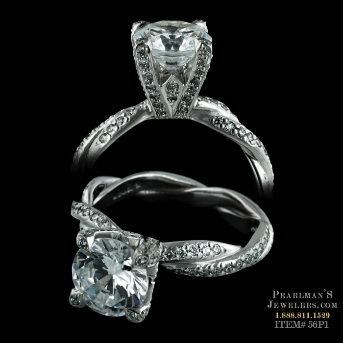 Michael B Infinity Diamond Engagement Ring