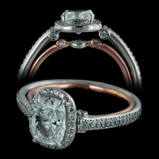 Bridget Durnell platinum and 18kt rose gold diamond engagement ring