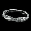 Beautiful Michael B. Infinity Unlimited Love ladies wedding band handmade in Platinum.  Unique pave twisted-shank with 90 diamonds weighing .45ct of VVS E-F ideals cuts.  The band width is 3.5mm.  This is the matching band for 56P1. Made by hand to perfection in America.