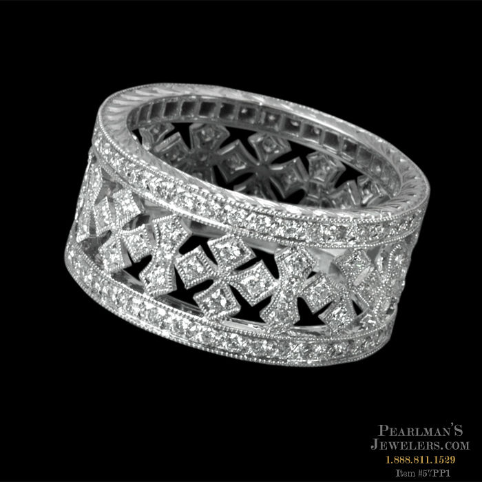 diamond cubic wide sparkles cz simple cocktail deco carat zirconia ring pave art faux beloved clio eternity filigree band products bands