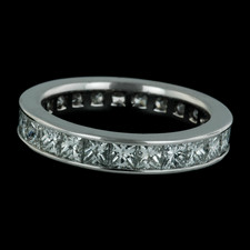 This beautiful platinum eternity wedding ring by Durnell contains princess cut diamonds in a full circle.  A wonderful representation of everlasting love.
