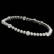 Gorgeous 18kt white gold diamond bracelet.  The piece is set with 4.85ct of diamonds.  Vs G-H quality.  Available in platinum.