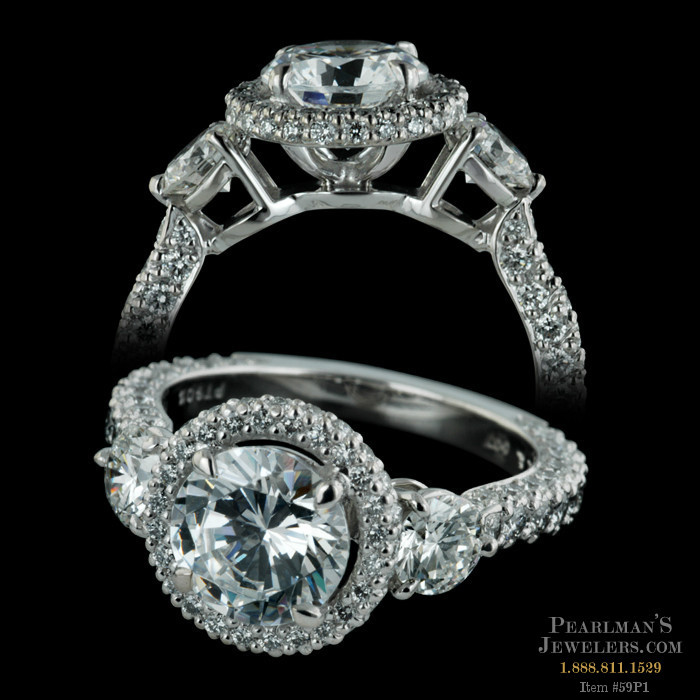 Michael b jewelry three stone eternity engagement ring for Michael b jewelry death