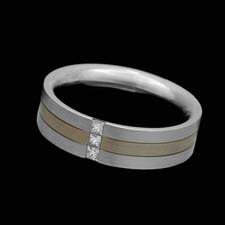 Christian Bauer 18kt white gold and platinum diamond wedding ring