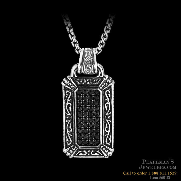 Scott Kay For Men Black Sapphire Mens Necklace