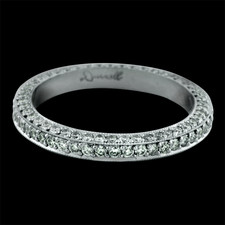 Bridget Durnell three sided platinum pave wedding band