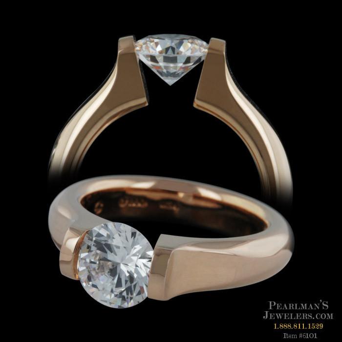 Steven Kretchmer 18kt Rose Gold Split Shank Engagement Ring
