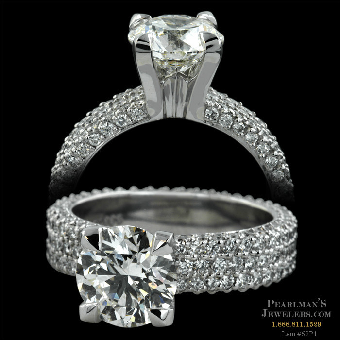 Michael b jewelry 3 row diamond flatband for Michael b jewelry death
