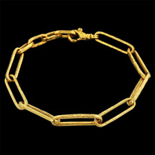 Gurhan 24k gold stretch link bracelet