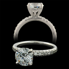 Michael B. Touch pave engagement ring