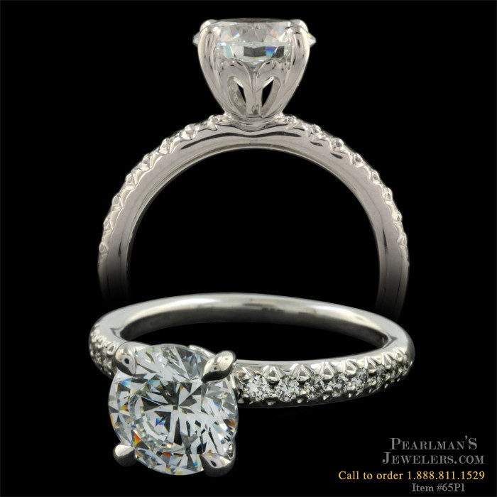 Michael b touch jewelry pave engagement ring for Michael b s jewelry