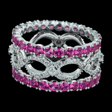 Spark infinity pink sapphire and diamond ring