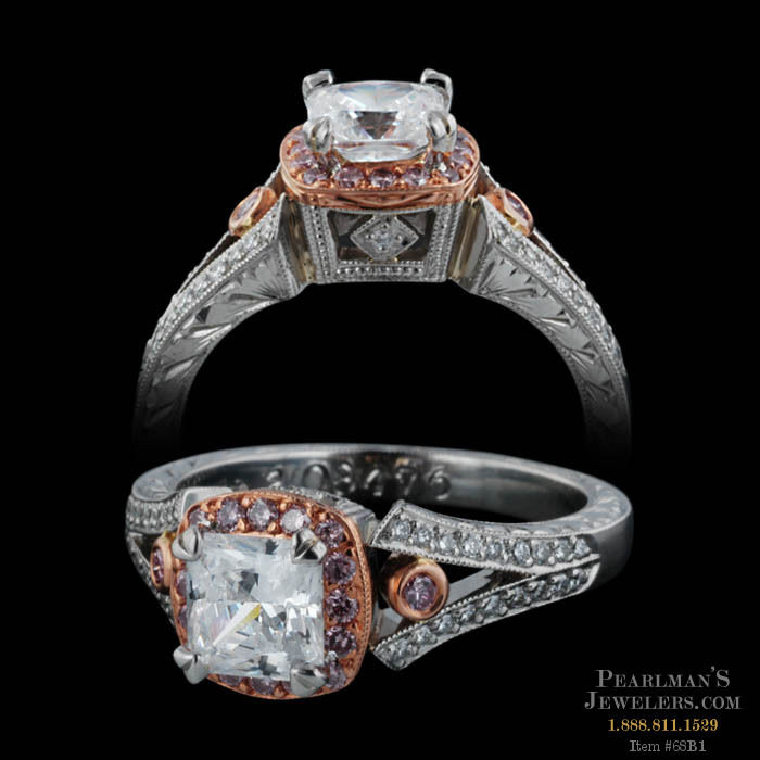 Michael Beaudry Platinum And 18k Rose Gold Ballerina Ring