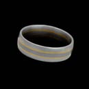 Christian Bauer designed this gents platinum and 18K yellow gold wedding band. The piece measures 6.5mm.