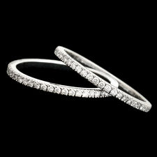 Scott Kay Platinum pave eternity wedding rings