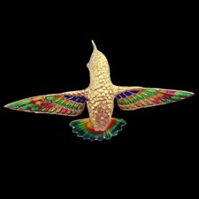 Nouveau Collection 18k gold hummingbird brooch