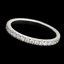 This 2mm platinum wedding band by Scott Kay, features a .54ctw, of round full cut diamonds in an eternity style setting.