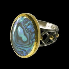 Gurhan sterling silver and gold ring