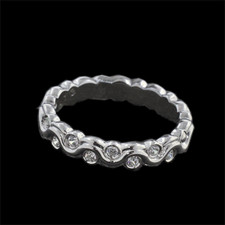 Harout R 18k white gold wedding eternity ring