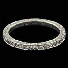 Michael B. Touch eternity wedding band.